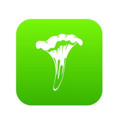 Chanterelle icon digital green vector