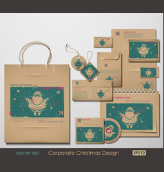 christmas branding vector image