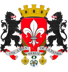 Coat of arms of lille in nord of hauts-de-france vector