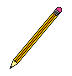 color wood pencil object school style vector image