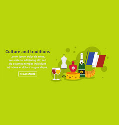 culture and traditions france banner horizontal vector image