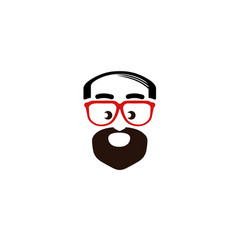 Daddy geek logo vector