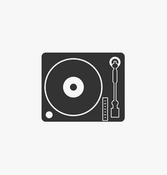 Disk jockey turntable icon vector