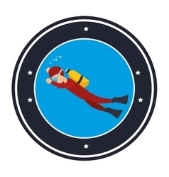 Diving Extreme sport athlete avatar vector