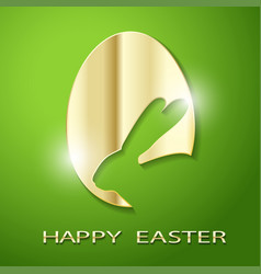 easter golden egg rabbit vector image