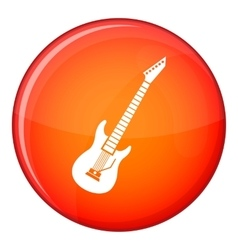 Electric guitar icon flat style vector
