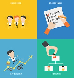 Element of human resource concept icon in flat vector