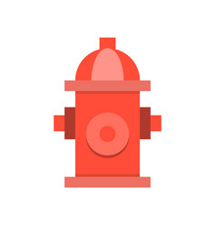 Fire hydrant simple icon flat design vector