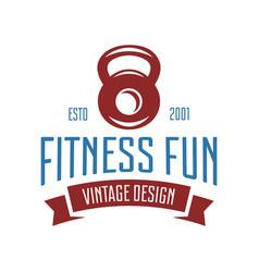 fitness emblems signs labels badges logos vector image