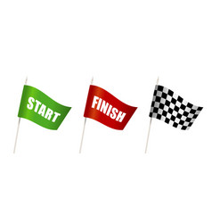 flag start chess patter flag finish for the vector image