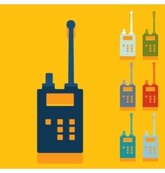Flat design police radio vector