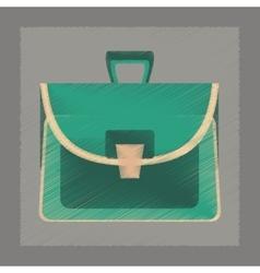 flat shading style icon school bag case vector image