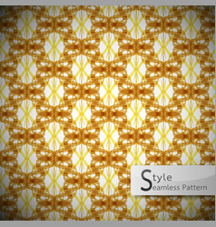 flower mesh rope gold brown vintage geometric vector image