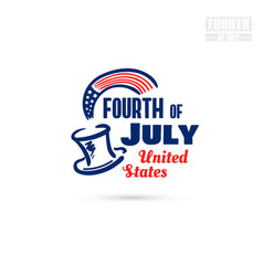 fourth of july united states vector image