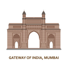 Gateway of india mumbai indian most famous sight vector