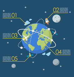 Global network connection infographic vector