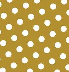 Gold and white polka dots pattern and texture vector