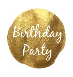 Golden Birthday Party Banner vector image