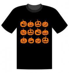 Halloween t-shirt vector