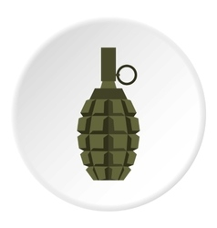 Hand grenade icon flat style vector