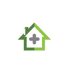health medical logo template design vector image