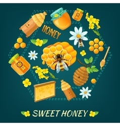 Honey Round Composition vector image