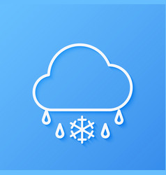 icon weather cloud and sleet vector image