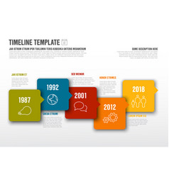 Infographic horizontal timeline template made vector