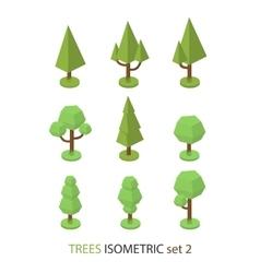 Isometric tree set 2 vector image