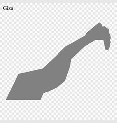 Map governorate egypt vector