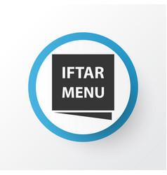 Menu icon symbol premium quality isolated iftar vector