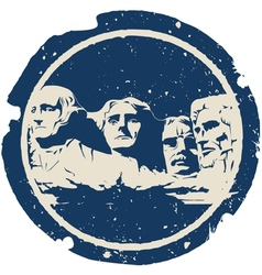 Mount Rushmore vector