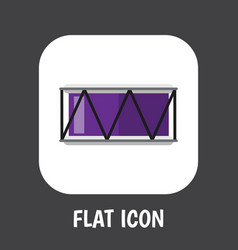 of sound symbol on drum flat vector image