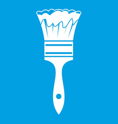 Paint brush icon white vector