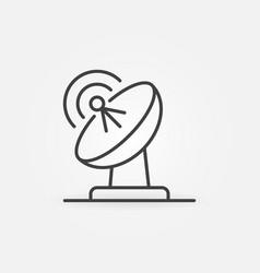 Parabolic antenna concept icon in linear vector