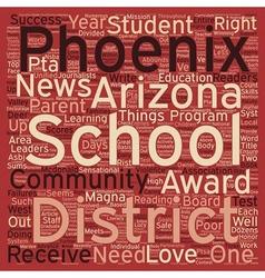 Phoenix Schools Receive Numerous Accolades text vector