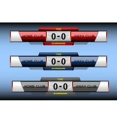 scoreboard sport elements vector image