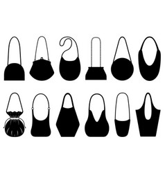 set of different purses vector image