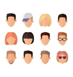 Set of Private Avatars vector