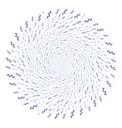 Sinusoid wave curl burst vector