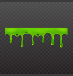 Slime or goo dripping liquid vector