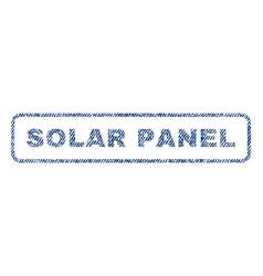 Solar panel textile stamp vector