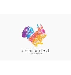 Squirrel logo Color squirrel logo Sweetl logo vector image