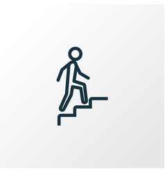 stairs outline symbol premium quality isolated vector image