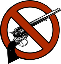 symbol no gun sign - isolated vector image