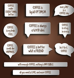 tags labels buttons stickers with message about vector image