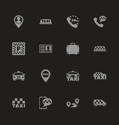 Taxi - flat icons vector
