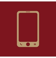 The smartphone icon Phone symbol vector