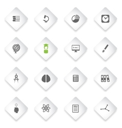 University simply icons vector image