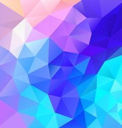 Vibrant blue multi colored polygon triangular vector
